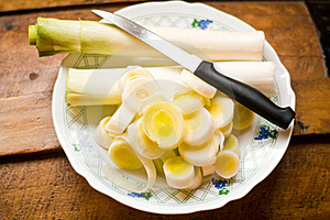 Fresh Cut Leek Royalty Free Stock Images - Image: 21664049