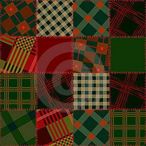 Seamless Patchwork Of Check Sguare Stock Image - Image: 21670191