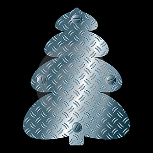 Abstract Steel Christmas Tree Royalty Free Stock Image - Image: 21672496