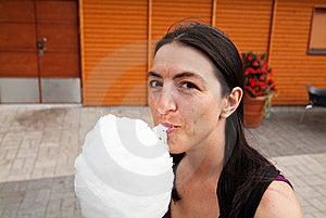 Enjoying Cotton Candy Stock Photography - Image: 21674122