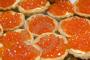 Tartlets With Red Caviar Stock Image - Image: 21674661