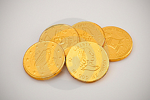 Chocolate Coins Stock Photo - Image: 21688680