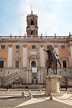 The Campidoglio Square In Rome, Italy Stock Image - Image: 21689641