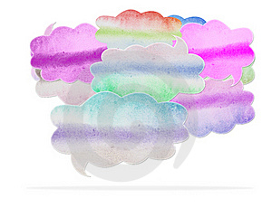 Watercolor Speech Bubble Stock Images - Image: 21695674