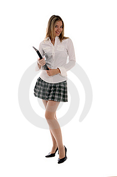 College Student Holding A Binder Royalty Free Stock Photography - Image: 21695847