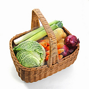 Fresh Vegetables In A Basket Royalty Free Stock Photos - Image: 21696098