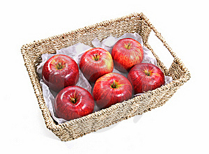 Apples In A Basket Stock Photos - Image: 21696163