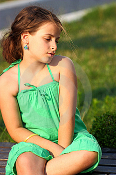Girl Outdoor Stock Photography - Image: 21697472