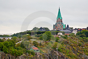 View On Sofia Church In Stockholm Royalty Free Stock Photo - Image: 21698545