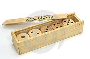 Five Wooden Gambling Dices Stock Images - Image: 2172114