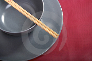 Bowl With Chopsticks Stock Photography - Image: 2173042