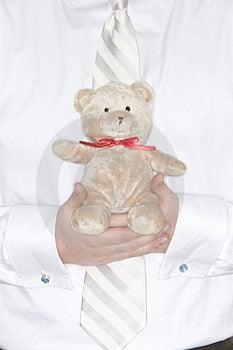 Businessman Holding Teddy Bear Royalty Free Stock Photography - Image: 2176657