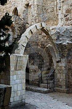 Antiquities Near The Western Wall Royalty Free Stock Photography - Image: 21700077