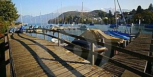 Spiez Marina Stock Image - Image: 21713951