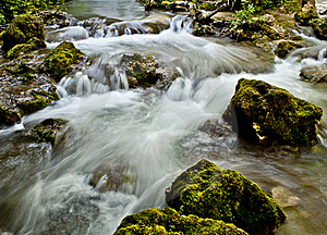Rocks And Waterfall Stock Photography - Image: 21715052