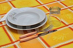 Orange Table Set Stock Photos - Image: 21719733