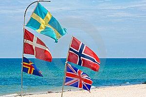 Nation Flags,Hua Hin Beach Thailand Royalty Free Stock Image - Image: 21727026