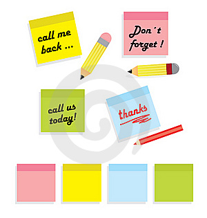 Post It Messages Royalty Free Stock Photography - Image: 21746827