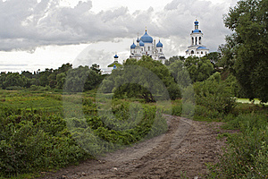 Road To Russian Orthodox Convent Vladimir Stock Photography - Image: 21760242