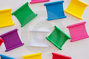 Multicolored Paper Stickers Stock Photos - Image: 21763103