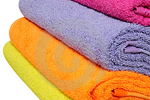 Bath Towels. Isolated Royalty Free Stock Image - Image: 21764096