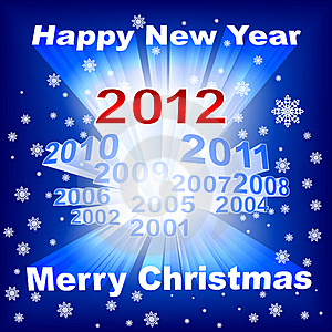 Merry Christmas 2012 Blue Background Stock Photography - Image: 21764812