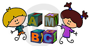 Kids Build Blocks Royalty Free Stock Image - Image: 21766006