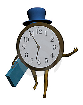 Late For Work Royalty Free Stock Photos - Image: 21768528