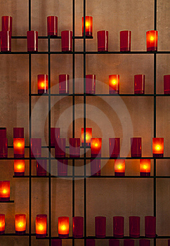 Offering Candles At Church Royalty Free Stock Photo - Image: 21769535