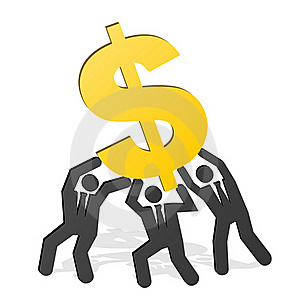 Team Dollar Royalty Free Stock Photo - Image: 21770445