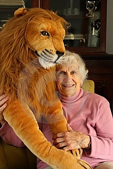 The Lady And The Lion Stock Images - Image: 21773114