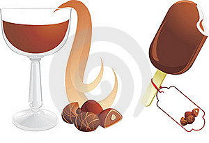Hot Chocolate With Candies And Ice Cream Stock Image - Image: 21773451