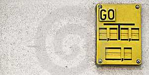 Wall Sign Go Royalty Free Stock Photography - Image: 21774437