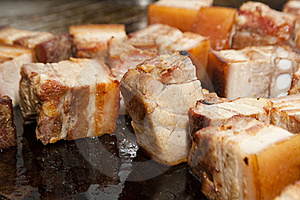 Fried Bacon Stock Photography - Image: 21778402