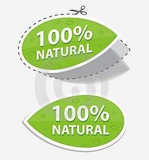 Natural Green Labels Royalty Free Stock Image - Image: 21781496