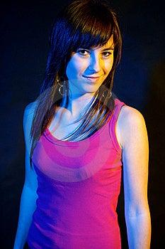 Portret Van Meisje Bij Partij. Royalty-vrije Stock Afbeelding - Afbeelding: 21783856
