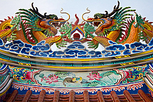 Dragon On The Roof. Stock Photography - Image: 21784632