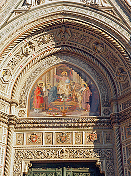Florence Duomo Cathedral Art Detail Stock Image - Image: 21792471
