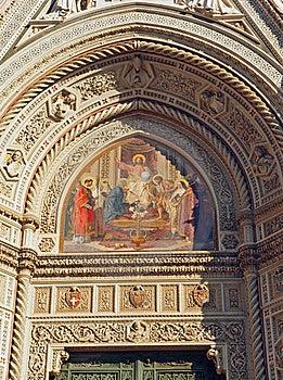 Florence Duomo Cathedral Art Detail Stock Image - Image: 21792471