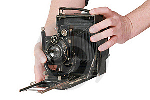 Camera In Hands Royalty Free Stock Image - Image: 21796276