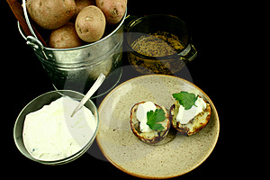 Delicous Baked Potatoes Stock Photo - Image: 2180590