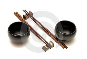Chopsticks & Teacups Royalty Free Stock Photo - Image: 2182395