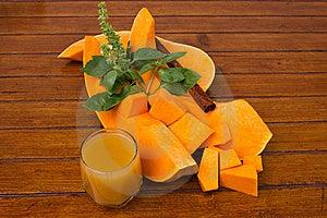 Edible Pumpkin - Squash And Juice Royalty Free Stock Images - Image: 21801859