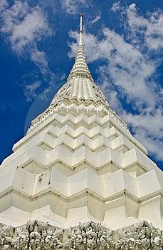 Close Up Of White Pagoda In Bangkok Royalty Free Stock Photos - Image: 21802348