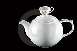 White Ceramic Teapot Pitcher Royalty Free Stock Photos - Image: 21805118