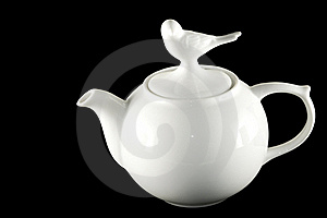 White Ceramic Teapot Pitcher Stock Photos - Image: 21805123