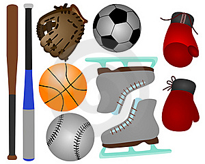Sports Equipments Royalty Free Stock Photography - Image: 21805867