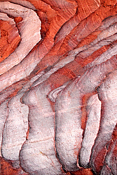 Sandstone Gorge Formation, Siq, In Petra Stock Photography - Image: 21809132