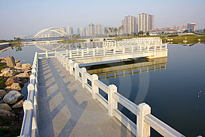 Walking Bridge Royalty Free Stock Photography - Image: 21811337