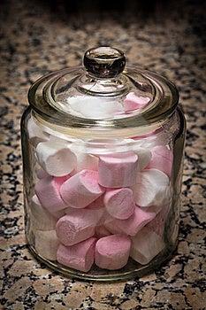 Marshmallows Jar Royalty Free Stock Photography - Image: 21818617